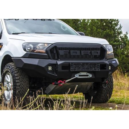 Силовой алюминиевый бампер, для Ford Ranger 2012-2015; 2016+, RIVAL 4x4 Accessories, Черный