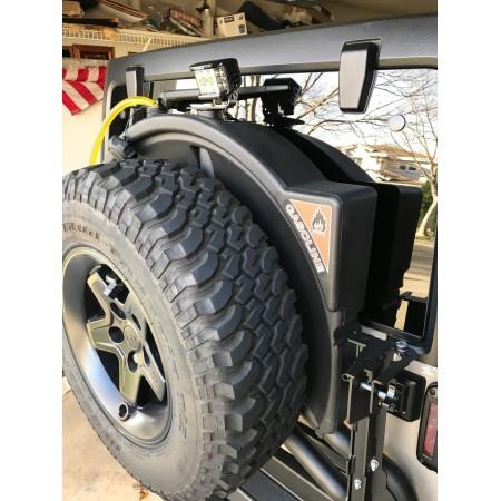 Бак под запаску AEV, 10 Gallon = 28 литров, 07-18 Jeep Wrangler JK для заднего бампера AEV