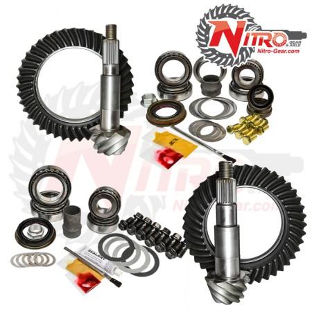 Комплект Главных Пар c набором для установки 2007-2014 Jeep Wrangler (Non-Rubicon), 4.11 Ratio, Nitro Front & Rear Gear Package Kit